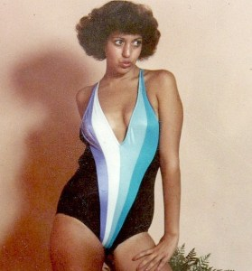 Benita in Bob Mackie magic bathing suit
